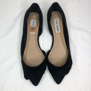 Steve Madden Black Enchant Flats with Bow Size 8
